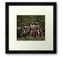 The Three Servicemen - Vietnam Memorial Framed Print