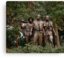 The Three Servicemen - Vietnam Memorial Canvas Print