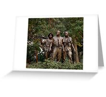 The Three Servicemen - Vietnam Memorial Greeting Card