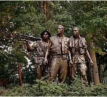 The Three Servicemen - Vietnam Memorial Photographic Print
