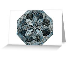 Tree Blossoms Geometric Collage 2 Greeting Card
