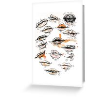 Lips Greeting Card