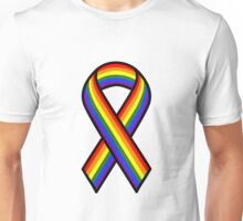 Rainbow Ribbon Unisex T-Shirt