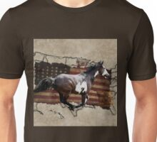 Pony Express Pinto Horse Delivering US Mail Unisex T-Shirt