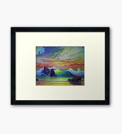Red Skies at Sunset Framed Print