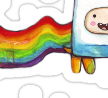 Nyan Time | Adventure Time Jake and Finn | Nyan Cat Sticker