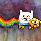 Nyan Time | Adventure Time Jake and Finn | Nyan Cat by OlechkaDesign