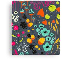 Retro Florals Canvas Print