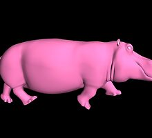 Pink Hippo by Mythos57
