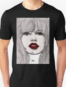 Brigitte with Red Lips T-Shirt