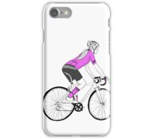 Woman cyclist / Pretty in PINK iPhone Case/Skin