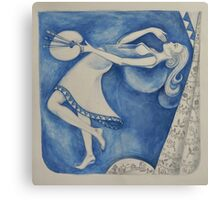 The (Woman) Painter: to the moon (after Chagall) Canvas Print