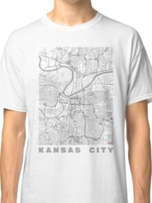 Kansas City Map Line Classic T-Shirt