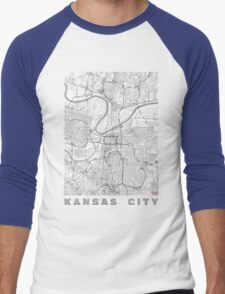 Kansas City Map Line Men's Baseball ¾ T-Shirt