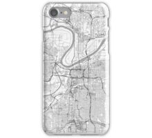 Kansas City Map Line iPhone Case/Skin