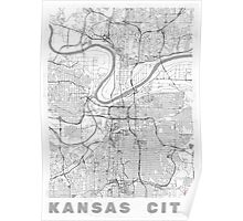 Kansas City Map Line Poster