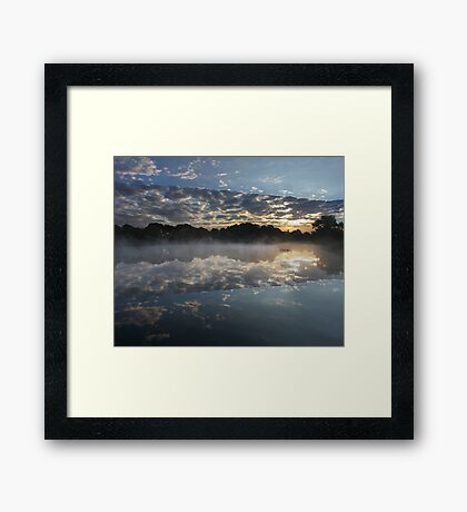 The Crack In The Lake Framed Print