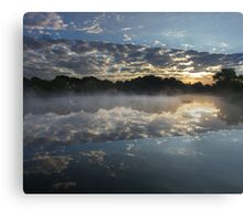 The Crack In The Lake Canvas Print