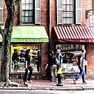Boston MA - Street With Candy Store and Bakery by Susan Savad