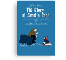 The story of Amelia Pond Canvas Print