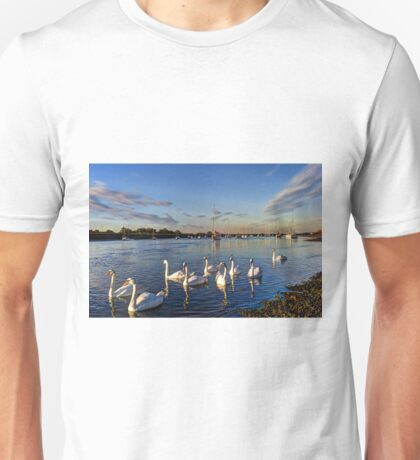Summer Evening swans Unisex T-Shirt