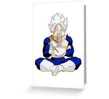 Goku eating Noodles - DBZ Greeting Card
