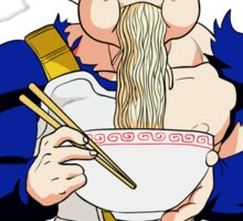 Goku eating Noodles - DBZ Sticker
