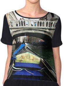 Venice Canal Gondola  Chiffon Top