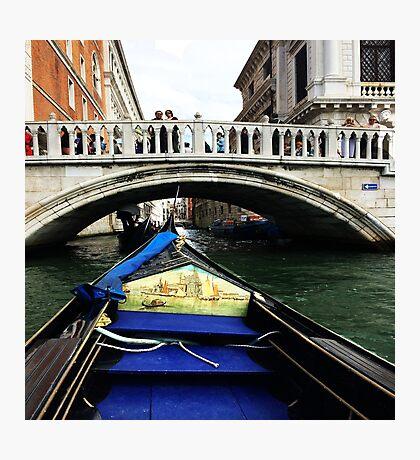 Venice Canal Gondola  Photographic Print