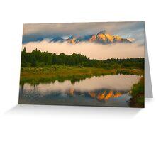 Teton Mountains from Schwabacher Landing Greeting Card