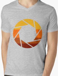 70s Modern Portal Aperture Logo (Hot) Mens V-Neck T-Shirt