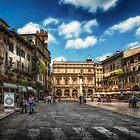 Piazza Delle Erbe by Dobromir Dobrinov