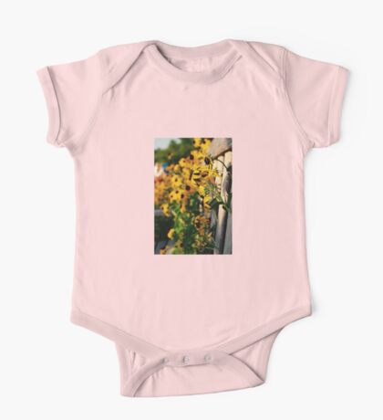 Flowers through the Bench One Piece - Short Sleeve