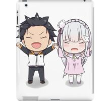 RE:Zero Subaru and Emilia Chibi iPad Case/Skin