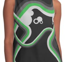 Graphic Linework Illustration - Green Contrast Tank