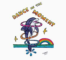Dance in the Moment - Cute Whimsical Dolphin Watercolor Illustration Unisex T-Shirt