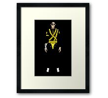Dangerous Jackson on Black Framed Print