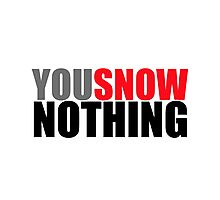 You Snow Nothing Photographic Print