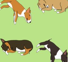 Lazy Bull Terrier - Green Sticker