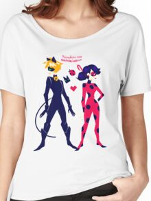 Miraculous Ladybug Ladynoir Women's Relaxed Fit T-Shirt
