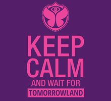 Keep Calm and wait for Tomorrowland festival - Pink Women's Fitted Scoop T-Shirt
