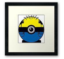 Minion Pokemon Ball Mash-up Framed Print