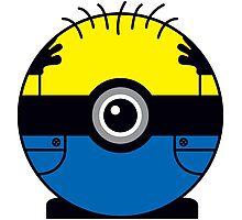 Minion Pokemon Ball Mash-up Photographic Print