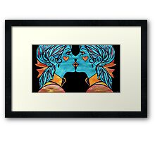Looking Glass Kisses Framed Print