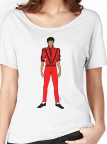 Thriller Red Jackson Women's Relaxed Fit T-Shirt