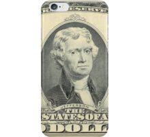 President Jefferson: 2 Dollar Bill iPhone Case/Skin