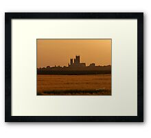 Lincoln Cathedral Sunset Framed Print