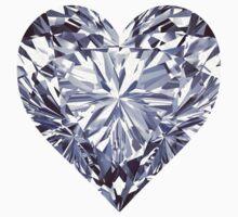 Diamond Heart Baby Tee