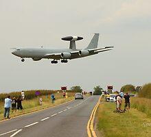 AWACS landing at RAF Waddington by Jonathan Cox