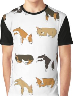 Lazy Bull Terrier - White Graphic T-Shirt